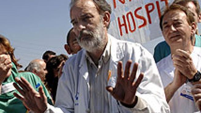 El doctor Montes, jefe de Urgencias del Severo Ochoa cuando se denunciaron las sedaciones irregulares. / ARCHIVO