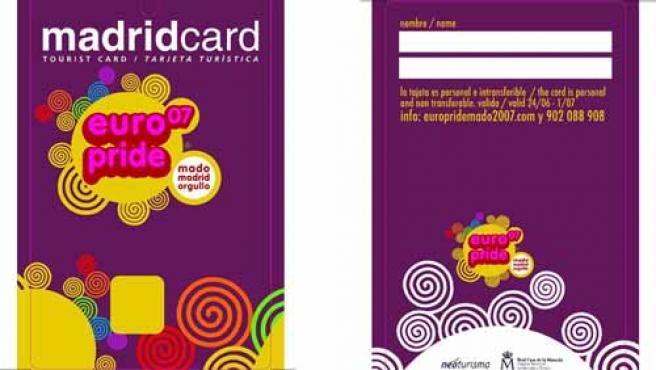 La tarjeta que te proporcionará descuentos en el Orgullo Gay 07.