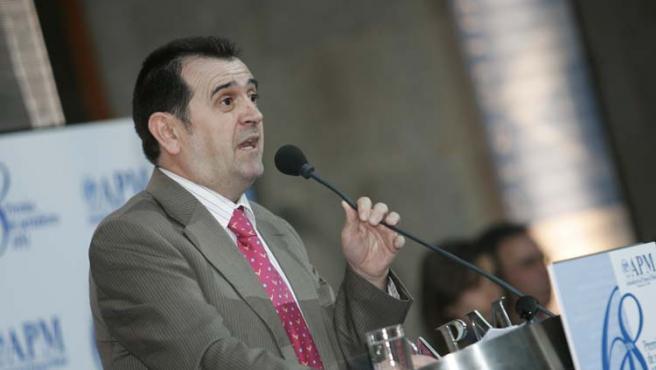 Arsenio Escolar, en un momento de la gala de la APM que reconoció su trabajo como periodista más destacado del año (J. PARÍS).