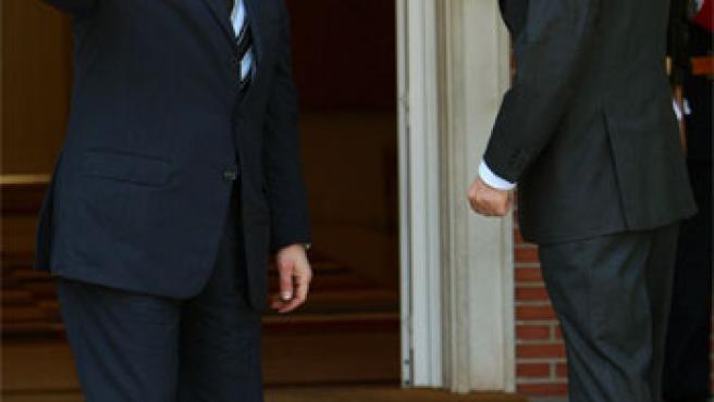 Zapatero recibe a Signiora en la Moncloa (Foto: Efe)