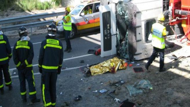 Un camionero ha muerto esta mañana en un accidente en la M-40