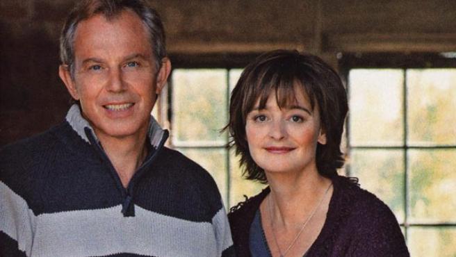 Cherie junto a su marido, Tony Blair, en una imagen de archivo.