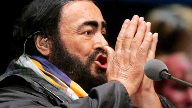 El tenor Pavarotti en una imagen de archivo.