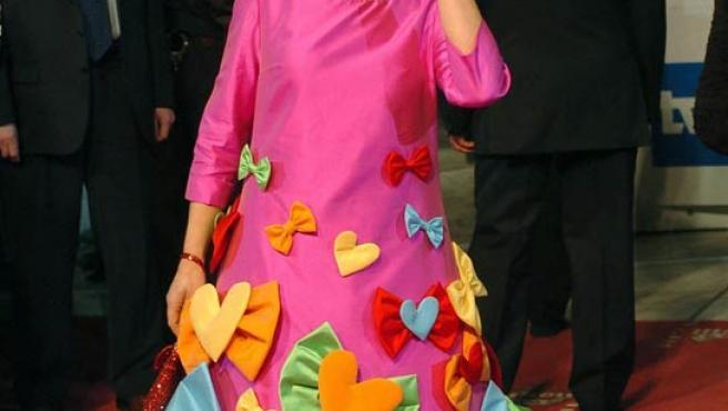 La ex ministra de Cultura, Carmen Calvo, cuando acudió a la gala de la XX edición de los Premios Goya.
