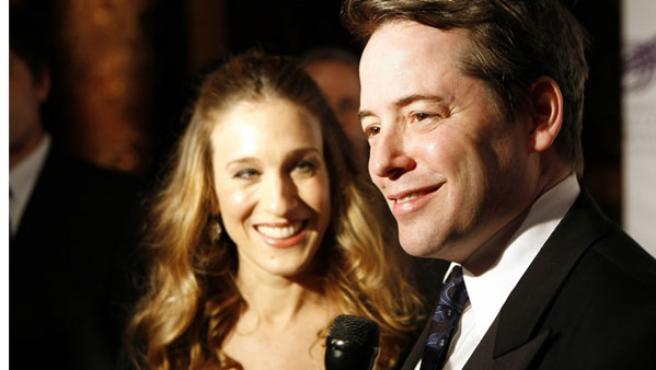 Sarah Jessica Parker y su marido, el actor Matthew Broderick.