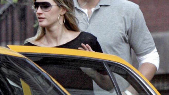 Gisele Bundchen y Tom Brady en las calles de Nueva York, donde ella vive.