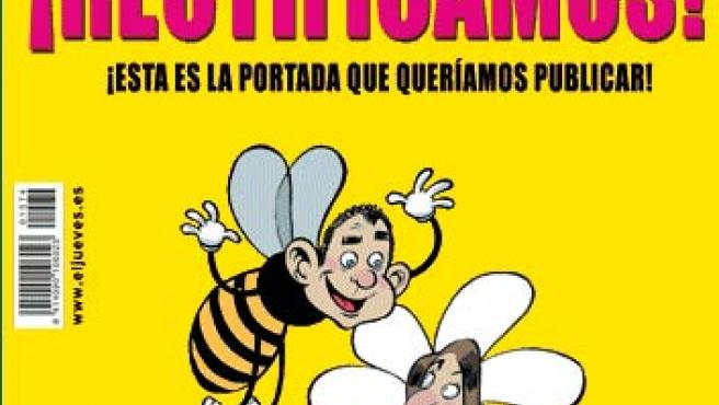 La portada de rectificación que publicó 'El Jueves'.