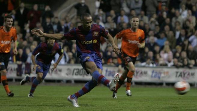 Gol de Henry en su debut (Ap Photo).