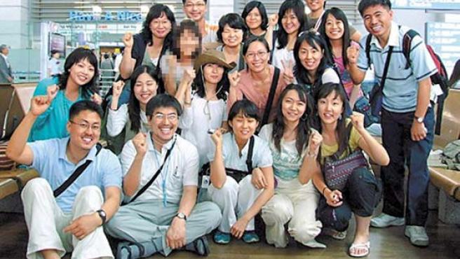 El grupo de surcoreanos secuestrado. (EFE)