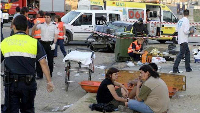 Atropello mortal a las puertas de una discoteca en Huesca.