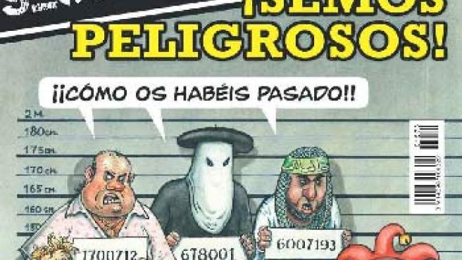 Portada de 'El Jueves' sobre el secuestro de su número 1573. (eljueves.es)