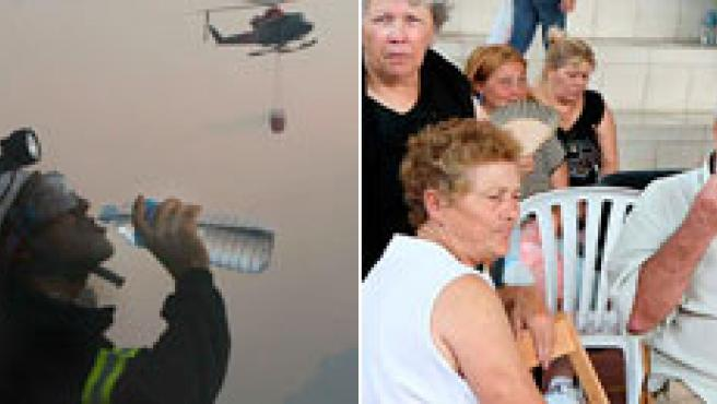 El fuego ha calcinado ya más de 35.000 hectáreas en Canarias y esta noche son 9.000 las personas evacuadas a causa del fuego.(AGENCIAS)