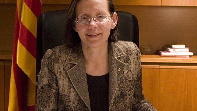 Montserrat Tura, consellera de Justicia.