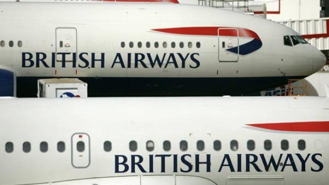 Aviones de British Airways en el aeropuerto de Heathrow (AP)