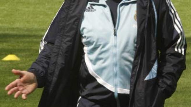Bernd Schuster, en un entrenamiento del Real Madrid (EFE).