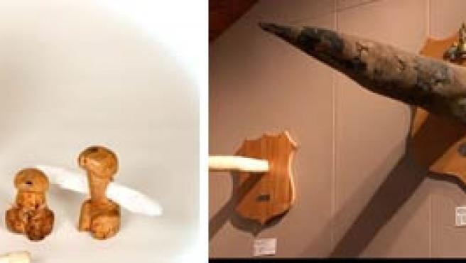 Algunos de los penes expuestos en el museo. (PHALLUS.IS)