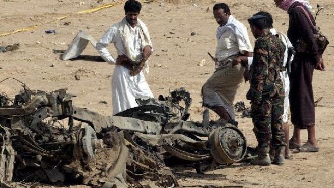 Imagen del atentado de Yemen del 2 de julio de 2007 en el que murieron ocho turistas españoles.