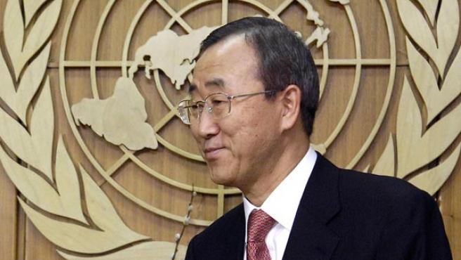 El secretario general de la ONU, Ban Ki-moon, ha tenido una activa participación en la prolongación del mandato de la ONU en Irak (ARCHIVO).