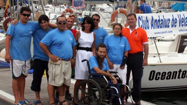 La tripulación del 'Oceantech' aspira a lo máximo en la regata.