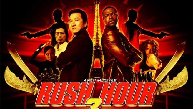 Cartel de 'Rush Hour 3', con Jackie Chan.