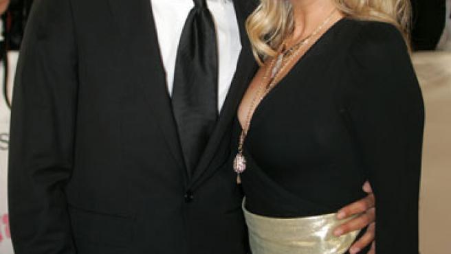 Emma Burton y su novio, Jade Jones, en una imagen de archivo.