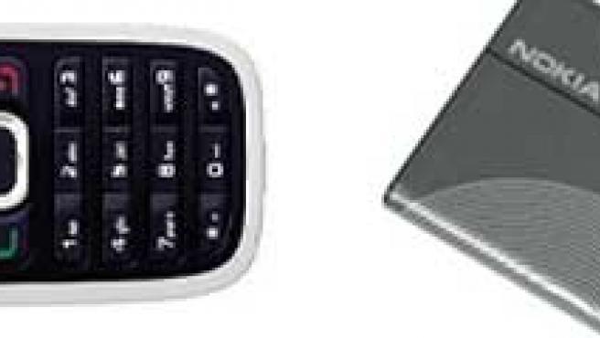 Teléfono móvil y batería Nokia.