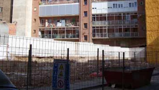 Solar en el que se reedificarán los bloques que se derrumbaron el 1 de mayo