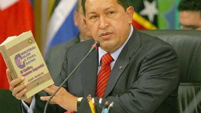 El presidente venezolano Hugo Chávez, esta semana en la inauguración de la III Cumbre Petrocaribe (EFE)