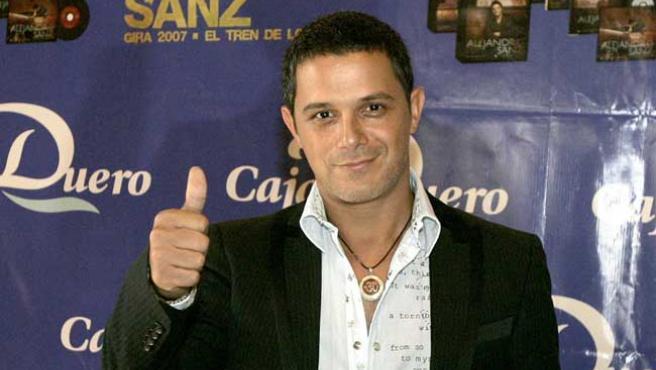 Alejandro Sanz, en la presentación de su gira española.