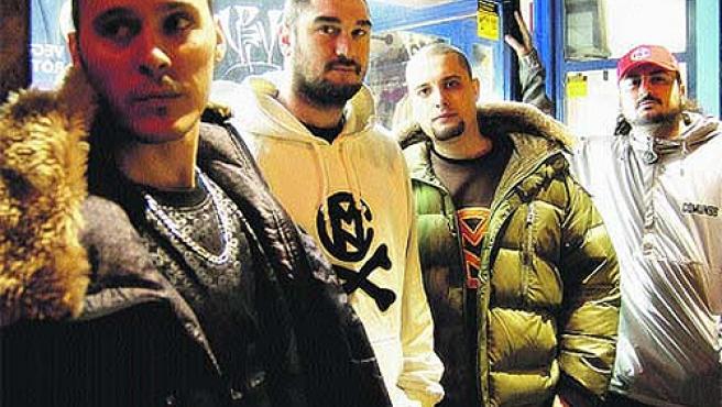 El grupo de rap zaragozano Violadores del Verso.
