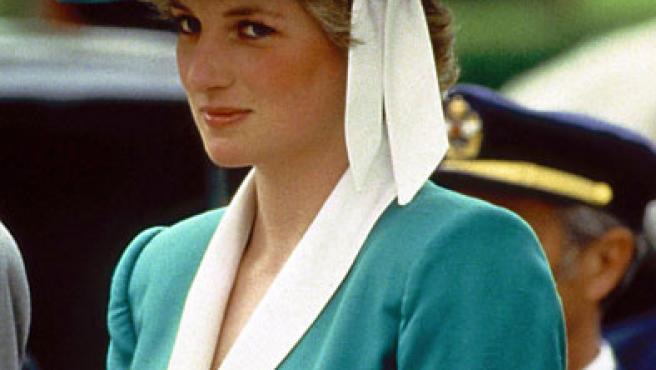 Diana de Gales, durante una visita oficial a España.