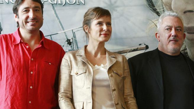 Imanol Uribe, Carmelo Gómez y Aitana Sánchez-Gijón