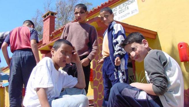 Niños en un centro de acogida de Ceuta (AGENCIAS).