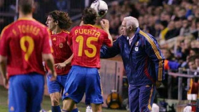 Antonio Puerta en su debut con la selección española el pasado mes de marzo (ARCHIVO).