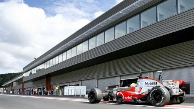 Mclaren en el circuito de Spa-Francorchamps