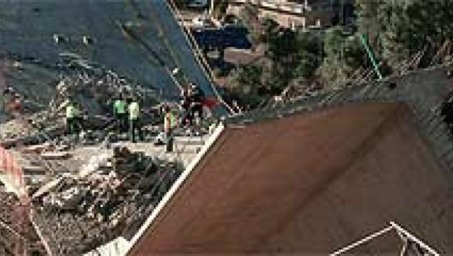 Vista general de las obras de construcción del viaducto de O Arenteiro. Rosa Veiga/EFE.