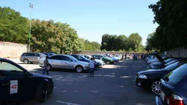 II Concentración Vagclub en Burgos tuvo lugar en el 'Parking del Hospital del Rey'. FOTO: LETICIA ROJO