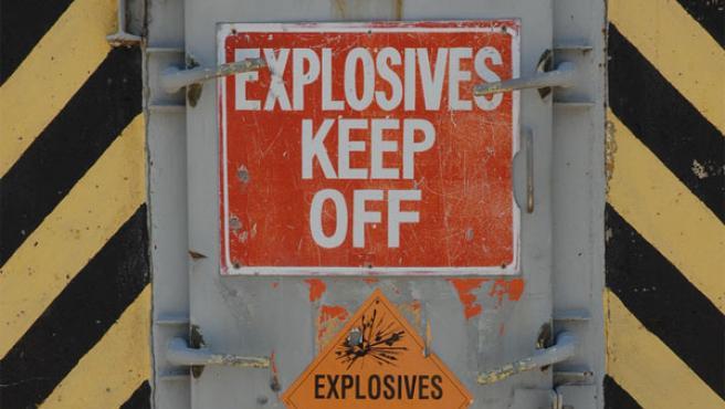 La UE quiere limitar la información que los buscadores dan sobre materias 'peligrosas'. En la imagen, un almacen de explosivos.