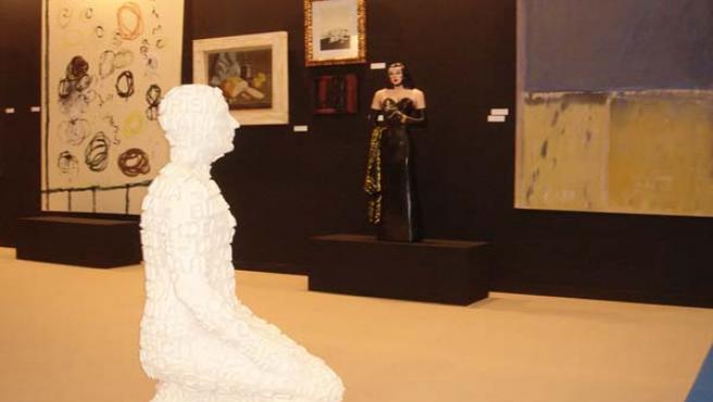Escultura bajo el título 'Self Portrait' de Jaume Plensa cuyo valor en el mercado supera los 150.000 euros.