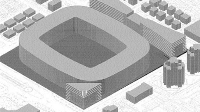 Imagen virtual del proyecto visto desde la avenida de la Palmera. (Gerencia de Urbanismo)