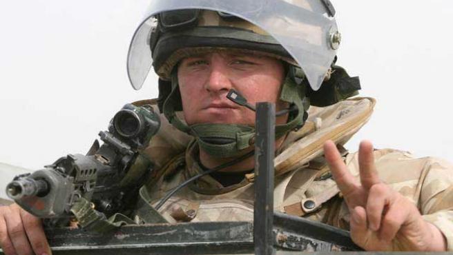 Un soldado británico, en una imagen de archivo (Reuters)