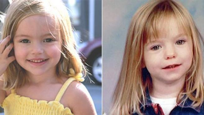 Madeline O'Brien (i), la niña que protagoniza la película, tiene un gran parecido con Madeleine McCann.