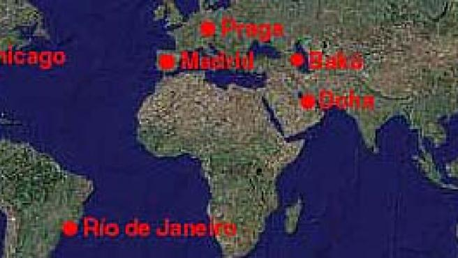 En 2009, el COI decidirá cuál de estas ciudades alberga los Juegos Olímpicos de 2016.