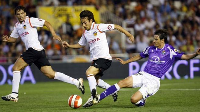 Silva y Morientes, protagoistas y goleadores en el Valencia. (EFE)