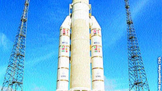 El cohete Ariane 5 (M. Marítim).