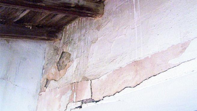 Vigas de madera, plato fuerte de las termitas, de un convento sevillano.