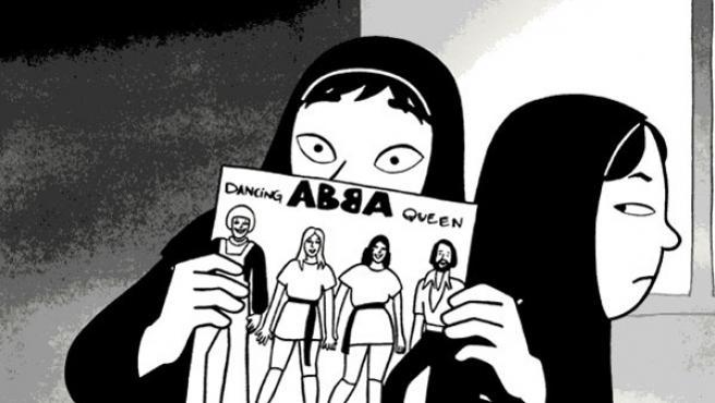 'Persépolis', un cómic autobiográfico de la franco-iraní Marjane Satrapi