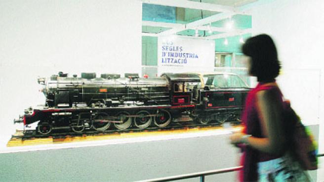 Una de las maquetas de tren expuestas en la muestra del Muvim.