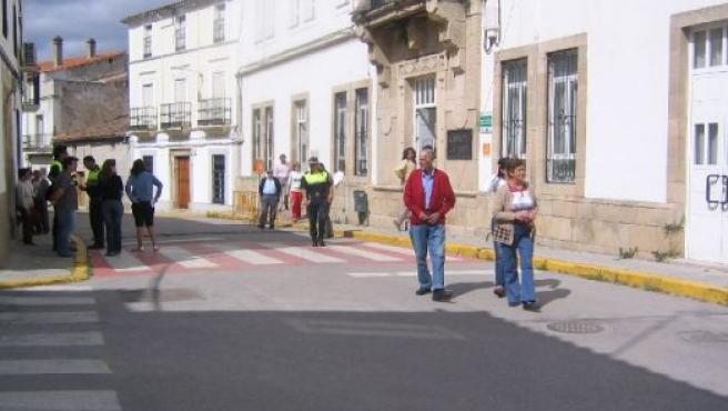 Calle del municipio cacereño de Garrovillas de Alconétar sin coches. FOTO. R. PERIANES