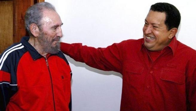 Chávez y Castro, en una foto de archivo.